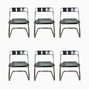 Space Age Italian Dining Chairs, 1970s, Set of 6