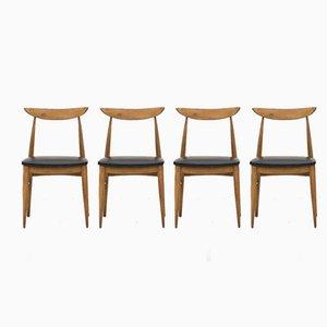 Chaises de Salle à Manger, Danemark, 1950s, Set de 4