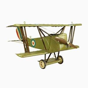 Biplano WWI Royal Air Force Mid-Century in latta, anni '20