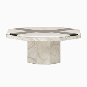 Octagonal Marble Coffee Table, 1960s