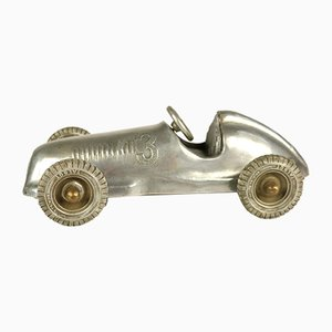 Aluminum and Brass Talbot Lago Grand Prix Car Model, 1950s
