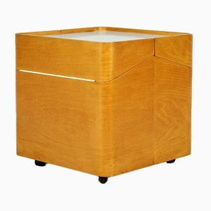 Mid-Century Beech Bent Plywood Cabinet by Brian Long for John Alan Designs