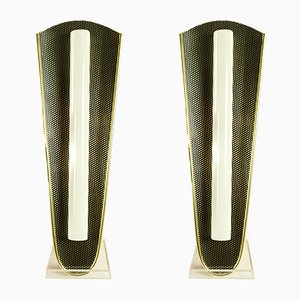 Perforated Metal Sconces, 1950s, Set of 2