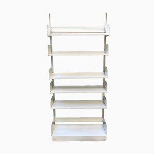 Libreria Mid-Century in metallo bianco di Lips Vago