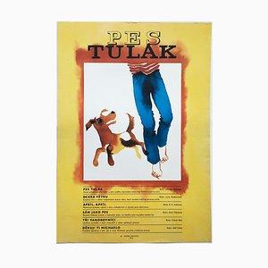 Dog Movie Poster by Zdeňka Krejčová, 1973