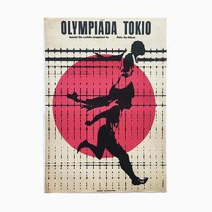 Póster de la película Tokyo Olympiad de Jiří Hilmar, años 60