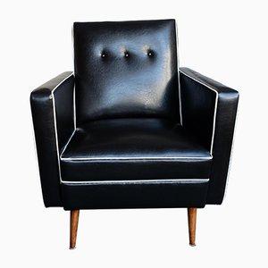 Schwarz-weißer Vintage Sessel, 1960er