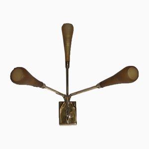 Aplique italiano Mid-Century de latón dorado y latón, años 50