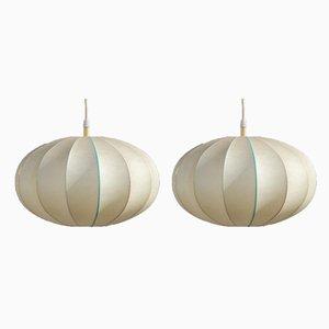 Mid-Century Italian Cocoon Pendant Lamp, 1960s, Set of 2
