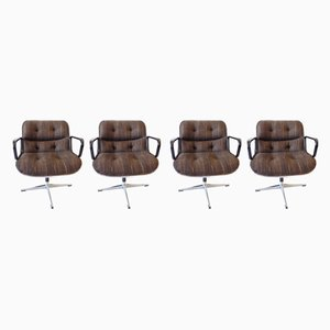 Lounge Chairs by Charles Pollock for Knoll Inc. / Knoll International, 1970s, Set of 4