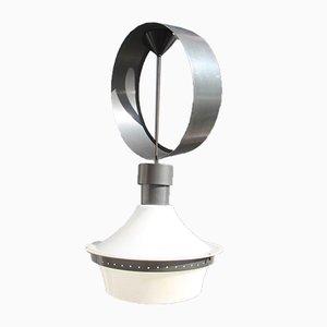 Lámpara colgante Mid-Century de metal y plexiglás de Elio Martinelli, años 50