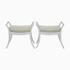 19th Century Swedish Stools, Set of 2