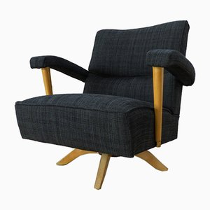 Rotating Dark Gray Armchair, 1950s