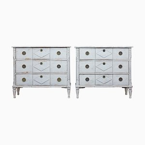 19th Century Swedish Pinewood Dressers, Set of 2