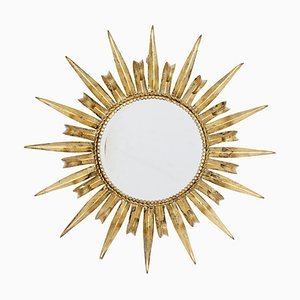 Gilt Metal Sunburst Mirror, 1960s