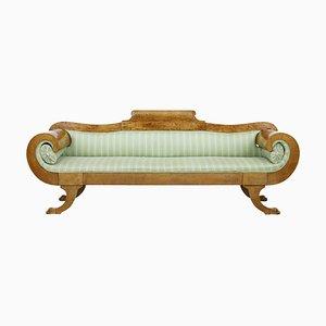 Sofá de madera nudosa de abedul, siglo XIX