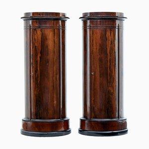 Mueble con pedestal de palisandro, siglo XIX