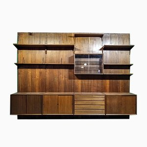 Large Mid-Century Teak Modular Wall Unit by Poul Cadovius for Cado, 1960s