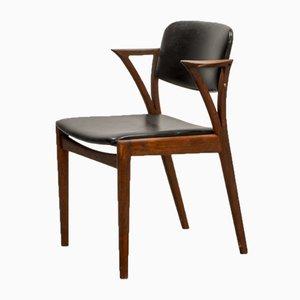 Chaise de Bureau Mid-Century en Teck par Kai Kristiansen pour Bovenkamp, 1960s