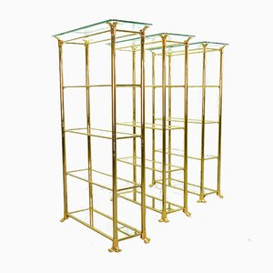 Mid-Century Spanish Gold Plated Shelf by Ramiro Tarazona, 1980s