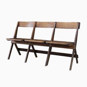 Sedia antica pieghevole in quercia