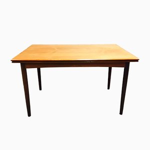 Scandinavian Teak Extendable Dining Table, 1950s