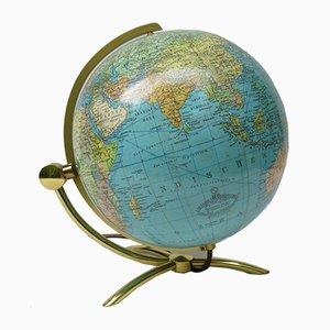 Mid-Century Globus aus Glas & Messing von Columbus Verlag Paul Oestergaard KG