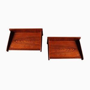 Danish Teak Floating Nightstands from Melvin Mikkelsen Pandrup, 1960s, Set of 2