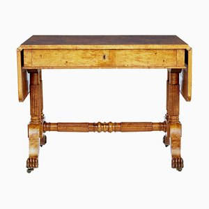 19th Century Biedermeier Burr Birch Coffee Table