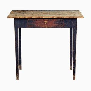 Mesa auxiliar sueca de madera de pino, siglo XIX