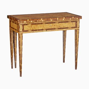 19th Century Burr Birch and Elm Game Table