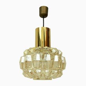 Lámpara colgante alemana de latón y vidrio de Helena Tynell para Limburg, años 60