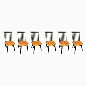 Dining Chairs by Ilmari Tapiovaara, 1950s, Set of 6