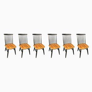 Esszimmerstühle von Ilmari Tapiovaara, 1950er, 6er Set