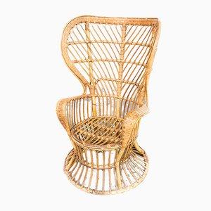 Biancamano Wicker Armchair by Gio Ponti & Lio Carminati for Pierantonio Bonacina, 1950s