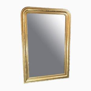 Antiker Spiegel mit Rahmen aus Blattgold