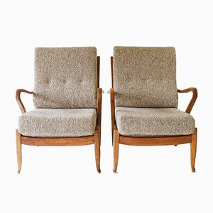German Armchairs by Molliperma for BSA, 1950s, Set of 2