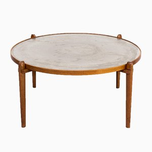 Teak and Etched Metal Coffee Table by Heinz Lilienthal for Heinz Lilienthal, 1960s