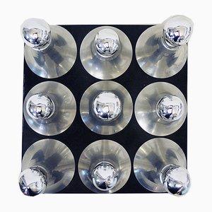 Verchromte deutsche Sputnik Deckenlampe von 17 Patterns für Cosack, 1960er