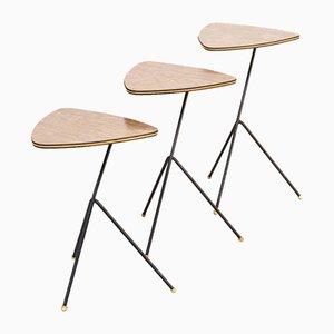 Side Tables by Mathieu Matégot for Artimeta, 1940s, Set of 3
