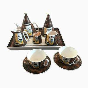 Italian Coffee Set from Alfa Ceramiche, 1950s