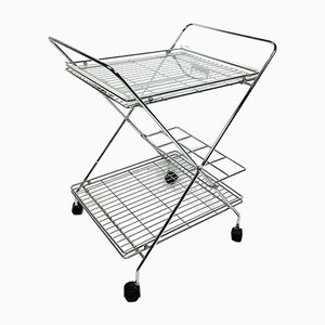 Chrome Plated Trolley with Plexiglass Tray, 1970s