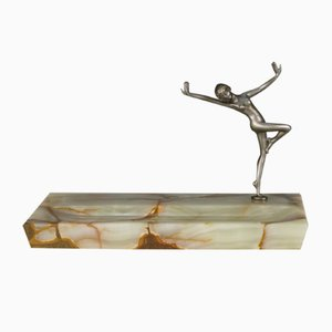 Art Déco Vide-Poche aus Onyx & Bronze, 1930er