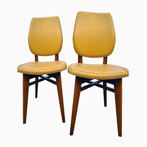 Französische Vintage Esszimmerstühle, 2er Set