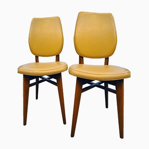 Vintage French Dining Chairs, Set of 2