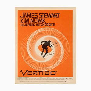 Poster del film Vertigo di Saul Bass, 1958