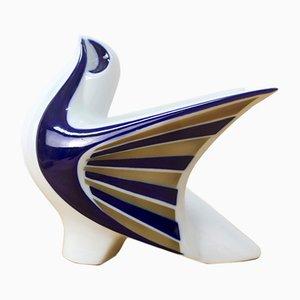 Escultura de paloma de porcelana de Sargadelos, años 80