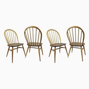 Vintage Windsor Esszimmerstühle von Lucian Ercolani für Ercol, 4er Set