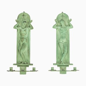 Vintage Art Deco Sconces, Set of 2