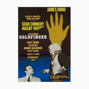 James Bond Goldfinger Filmposter von Gosta Aberg, 1967